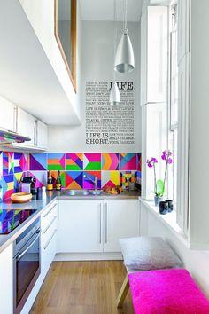 Zdjęcie numer 2 w galerii - Kolorowa kawalerka w Londynie