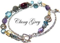 unique bracelet - http://www.clunygreyjewelry.com/page3.html  Blue topaz, ruby, amethyst, citrine, labradorite, and sterling silver. Wonderful  #uniquebracelet  #jewelry