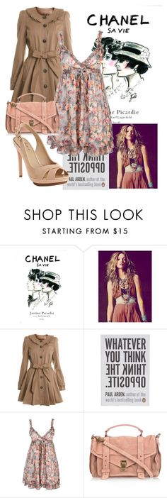 """""""for julie"""" by prettyillusion ❤ liked on Polyvore featuring Chanel, Antik Batik, Miss Selfridge, Penguin, Proenza Schouler, Mark + James by Badgley Mischka, rose and dress"""