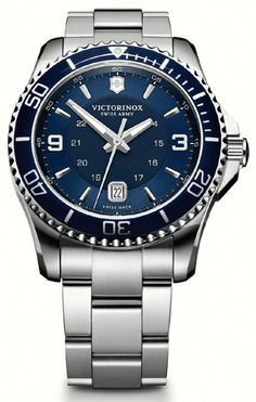 Swiss Army Maverick GS Blue Stainless Steel Mens Watch 241602 BY Swiss Army