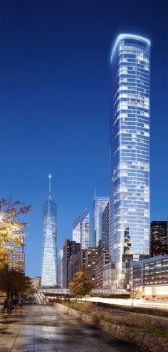 50 WEST STREET (Hotel/Condo)   783 ft   Helmut Jahn #architecture ☮k☮
