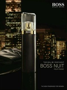 Hugo Boss Nuit pour femme. My new fragrance! I love everything Hugo Boss!!