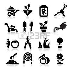 icone jardinage: Jardinage icône
