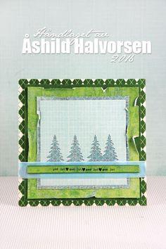 ♥ kreativt uttrykk ♥ Uke 1/ kort 5. Du grønne, gneldrende ark - god dag!