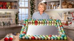 Ask Martha: How to Make an Ornament Mirror! Watch Martha explain how easy it is to embellish a mirror with ornaments so you can add a festive touch anywhere in your home. #HowToHoliday