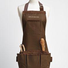 personalized garden apron