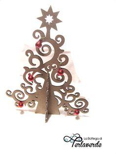 Christmas tree cardboard- laser cut 40cm x 30cm  #madeinitaly #mobilidicartone #cardboardart