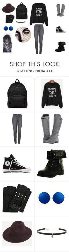 """""""AHS- American horror story"""" by charlottealison ❤ liked on Polyvore featuring Hogan, WithChic, Paige Denim, Rocket Dog, Converse, Refresh, Karl Lagerfeld, Matthew Williamson and Carbon & Hyde"""