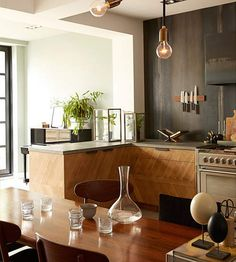 Love these wood cabinets. - desiretoinspire.net