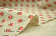 Hey, I found this really awesome Etsy listing at https://www.etsy.com/listing/89885117/sale-strawberry-fabric-clothes-natural