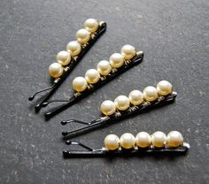 Swarovksi Pearl Bridal Bobby Pins wire wrapped by LoveandCherish, $24.50