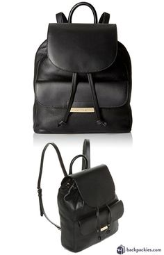 ed347230ad 6 Small Black Leather Backpacks We Love - 2018 Must Haves