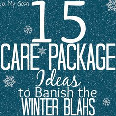 Care package ideas-- great for military deployments and college students! 15 Care Package Ideas to Banish the Winter Blahs | @J O | Jo, My Gosh!