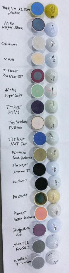 What's inside your golf ball ?