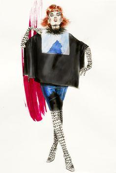 Illustrator of The Week – Natalia Jheté Illustration Mode, Margiela, Fashion Backpack, Artsy, Sketches, Inspiration, Collection, Dresses, Designers