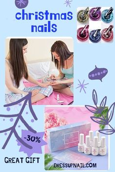 Many colors in one set, help you create an incredible design. It is also a great gift for a friend, sister or daughter. You can completely cover the nail or make an element of the picture #nail #nailart #dressupnail Blue Gel Nails, Glitter Gel Polish, Gel Nail Polish Set, Glitter Gel Nails, Nude Nails, Polishing Kit, Easy Art, Art Nails, Gel Color