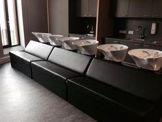 Mali washingunits. Salon Ideas from Ayala salon furniture. Modern salon design.