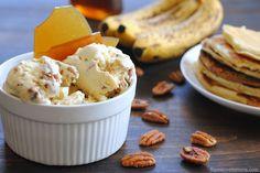 Banana Pancake Ice Cream with Maple Brittle via Foxes Love Lemons