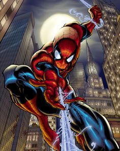 I love Spiderman.  I believe I'm inspired to do a big painting for my hallway!