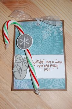 Holiday hot chocolate card. Mmmm.