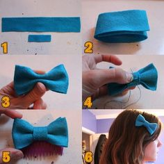 How to make a felt hairbow/bowtie