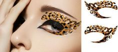 1 Pair of Temporary Tattoo Makeup for Eyes Eyelids Sexy Leopard Pattern Brown Color for Clubbing Party Prom via Etsy