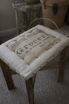 a fine farmhouse.....Grocer Stool.... 16 tall x 18 x 11 .... So neat !!! .....   SOLD , Thank you !  44.00