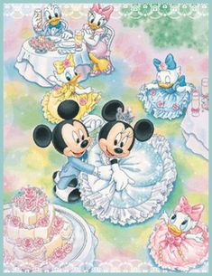 Mickey and Minnie Mouse's Wedding Reception.