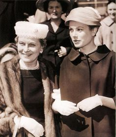 Grace Kelly with her mother.