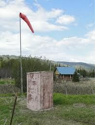Outhouse in Homer w/ wind sock