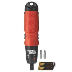 Cordless Electric Screwdriver Black & Decker Battery Operated Tool Phillips Flat #BlackDecker