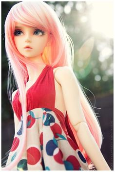Ball jointed Doll, so cute love her pink long hair Ooak Dolls, Blythe Dolls, Barbie Dolls, Kawaii Doll, Realistic Dolls, Smart Doll, Anime Dolls, Creepy Dolls, Little Doll