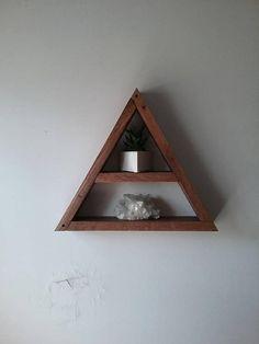 floating triangle shelf
