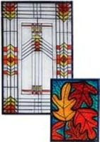 Prairie-Style Stained Glass Clings - will need adults to draw simple things ahead of time - may not be feesible