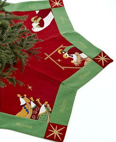 Jabara Christmas Tree Skirt, Nativity Scenes - Stockings & Tree Skirts - Holiday Lane - Macy's