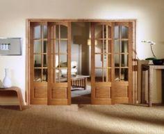 Norbury Sliding French Doors | Oak French Doors | Oak Sliding Room Dividers