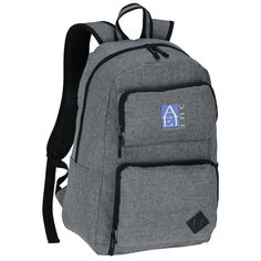 4c3e0592aef8 Graphite Deluxe Laptop Backpack - Embroidered