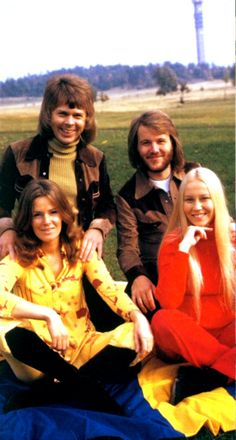 """The Kaknäs photo session. The Polydor cover featured the photo from the session taken outside the TV tower """"Kaknästornet"""" in Stockholm. One of the early ABBA sessions taken in 1972."""