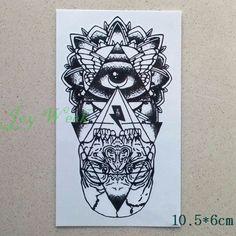 Waterproof Temporary Tattoo Sticker eye of God totem tattoo body art Water Transfer fake tattoo flash tattoos for girl women men Flash Tattoos, Baby Tattoos, Girl Tattoos, Fake Tattoo, Tattoo Hurt, Temporary Tattoo, Totem Tattoo, Dream Catcher Tattoo, Tattoo Sticker