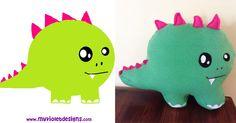 Transformación de dibujos o imágenes en peluches, Dino, My Violet :D myvioletdesigns.com