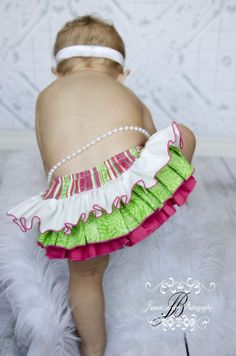 ruffled diaper covers for babies   Ruffle Diaper Cover Baby Bloomer Hot Pink Lime Green White - $25.00 ...