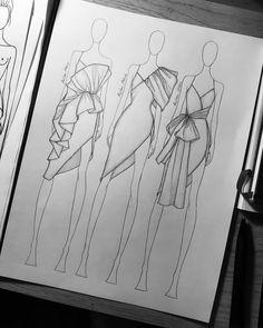 Fashion design sketches 395753886008335414 - Source by Dress Design Drawing, Dress Design Sketches, Dress Drawing, Fashion Design Drawings, Drawing Sketches, Drawing Tips, Fashion Design Illustrations, Drawing Faces, Dress Designs