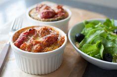 bakt aubergine i tomasaus
