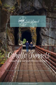Exploring the Othello Tunnels in Hope, BC, Canada. Canadian Pacific Railway, Canadian Travel, Family Friendly Dogs, Columbia Outdoor, Train Tunnel, Fraser Valley, Old Trains, Othello, Turquoise Water