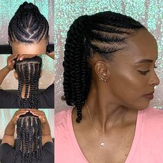 Natural Hair Twist Styles, Protective Styles For Natural Hair Short, Flat Twist Styles, Natural Hair Tutorials, Natural Hair Braids, Natural Hairstyles For Kids, Work Hairstyles, Braids For Black Hair, Hairdos