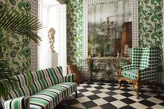 Interior Wall Colors, Interior Walls, Modern Interior Design, Interior Architecture, Modern Decor, Green Rooms, Bedroom Green, Home Office Design, House Design