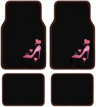 Lady High Heel Shoe w Triple Pink Hearts Front Rear Seat Car Truck SUV Carpet Floor Mats ** Read more at the image link. (This is an affiliate link) Pink High Heels, Womens High Heels, Girly Car, Car Accessories For Girls, Car Floor Mats, Car Mats, Cute Cars, Car Girls, Shoes Heels
