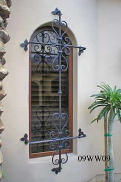 Iron Window Grilles - products - santa barbara - MASTER IRONWORKS - Santa Barbara - 805.284.9104 Iron Windows, Iron Doors, Windows And Doors, Iron Window Grill, Window Grill Design, Wrought Iron Decor, Wrought Iron Fences, Window Security Bars, Window Bars