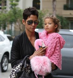 Halle Berry knows how to keep her beautiful daughter warm in style!