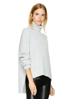 Sink into this plush and luxurious turtleneck knit from pure Italian merino wool $165